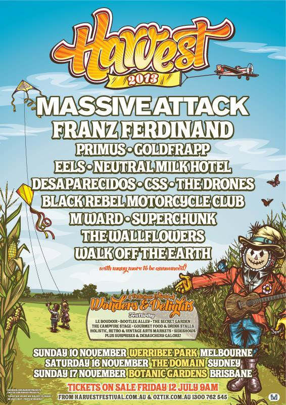 Harvest Festival Announced – BRMC, Primus, The Wallflowers, Franz Ferdinand and more…