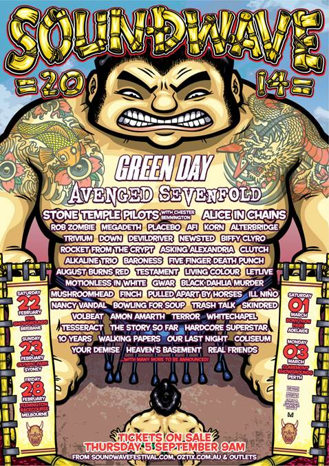 SOUNDWAVE 2014 line-up announced!
