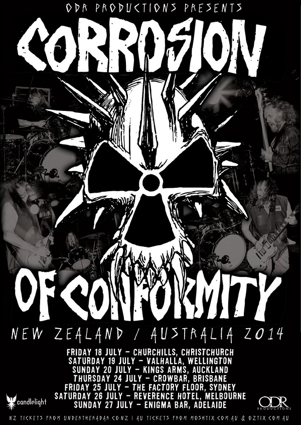 Corrosion Of Conformity: Aust/NZ July Tour Salvaged