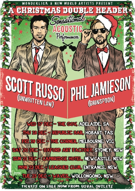 SCOTT RUSSO & PHIL JAMIESON Announce December Tour