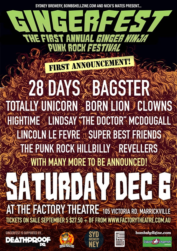 Gingerfest First Line-Up Announced!