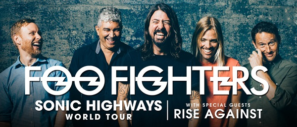 FOO FIGHTERS making much-awaited return to Australia & New Zealand in February & March 2015 | with special guests RISE AGAINST