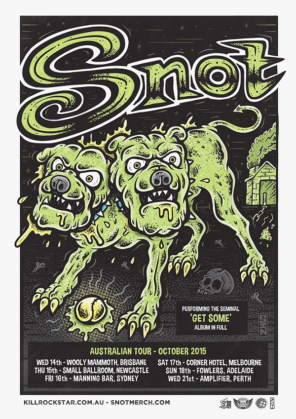 SNOT Announce Australian Tour – October 2015