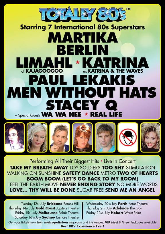 TOTALLY 80's AUSTRALIAN TOUR ANNOUNCED! (Martika, Berlin, Limahl and more!)