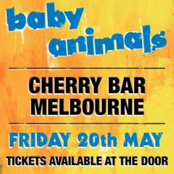 Baby Animals surprise Melbourne with an intimate warm-up gig at Cherry Bar tonight!