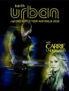 KEITH URBAN adds two dates to 'ripCORD World Tour Australia 2016' with Carrie Underwood