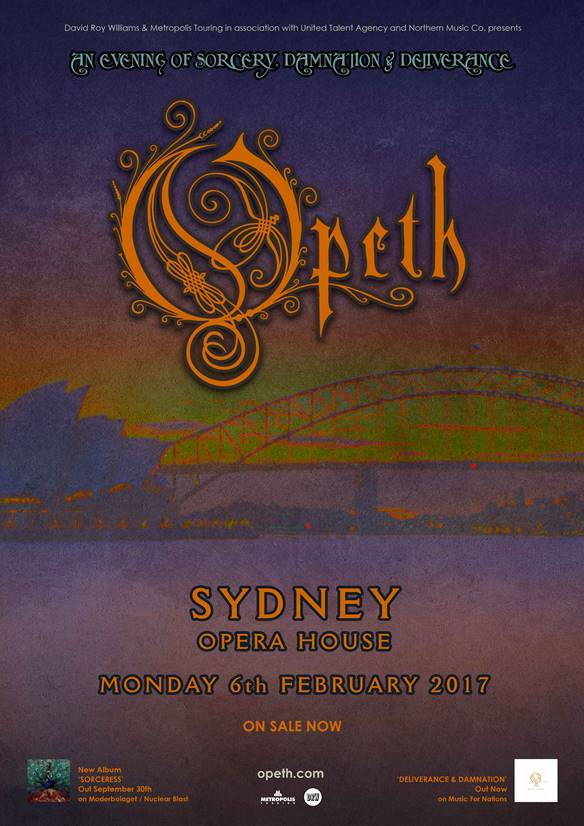 Opeth tour sydney