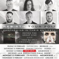 UNDEROATH Melbourne Sold Out! 2nd And Final Show Announced!