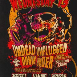 "WEDNESDAY 13 Announces ""Undead Unplugged Down Under 2017"" shows"