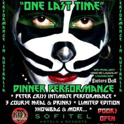 "Original Kiss Drummer Peter Criss Heading to Australia for ""One Last Time"" + Kiss Konvention 2017 Announcement"
