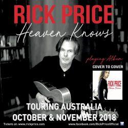 RICK PRICE 'Heaven Knows' album cover to cover tour