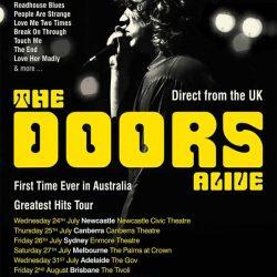 THE DOORS ALIVE Announce 2019 Australian Tour