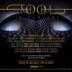 TOOL announce extra Melbourne arena show due to overwhelming demand