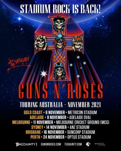 GUNS N' ROSES Announce Australian Stadium Tour